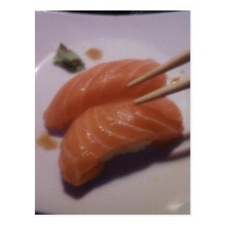 Salmon Nigiri Postcard