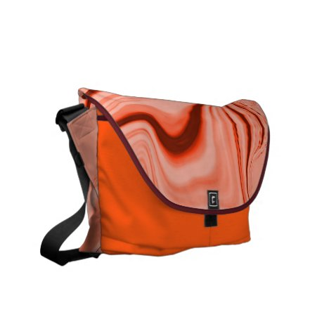 Salmon, peach, clear coral and pink mix curves courier bag