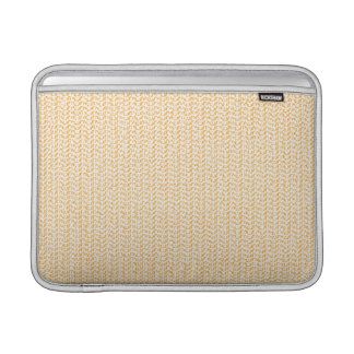 Salmon Peach Weave Look MacBook Sleeves