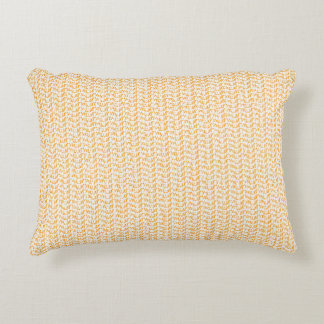 Salmon Peach Weave Mesh Look Accent Pillow