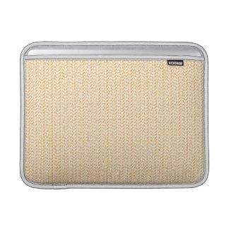 Salmon Peach Weave Mesh Look MacBook Air Sleeve