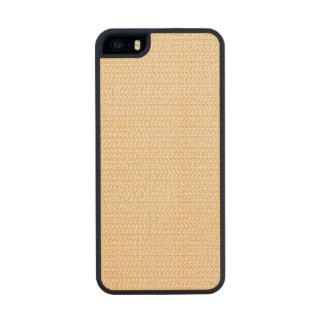 Salmon Peach Weave Mesh Look Carved® Maple iPhone 5 Slim Case