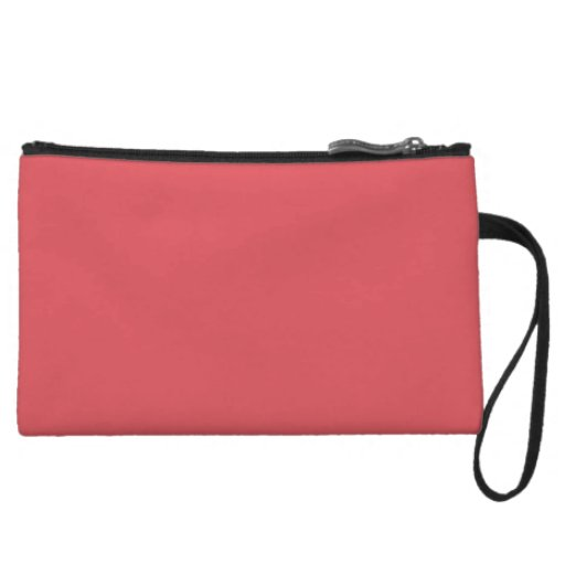 Salmon Peachy Pink Color Trend Blank Template Wristlet