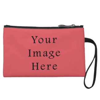 Salmon Peachy Pink Color Trend Blank Template Wristlet Wallet