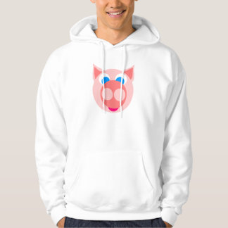 Salmon piggy hoodie