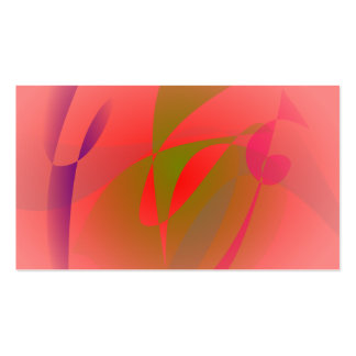 Salmon Pink and Green Tea Business Cards