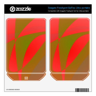 Salmon Pink and Green Tea FreeAgent GoFlex Decals