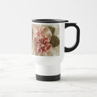 Salmon Pink And Peach Flower Mug
