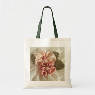Salmon Pink and Peach Flowers Bags