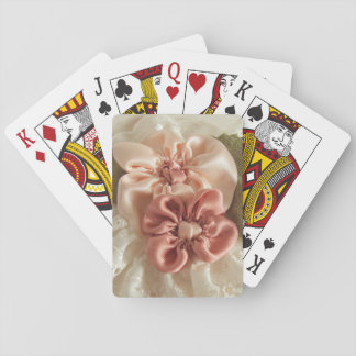 Salmon Pink And Peach Flowers Card Deck