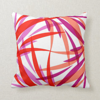 Salmon Pink and Purple Throw Pillow. Julia Bars. Throw Pillows