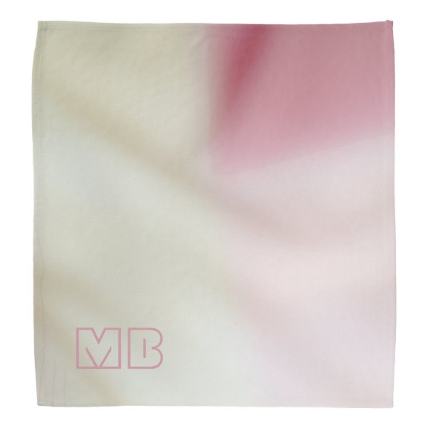Salmon pink and satin-look with your initials bandana