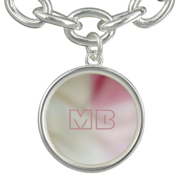 Salmon pink and satin-look with your initials bracelet