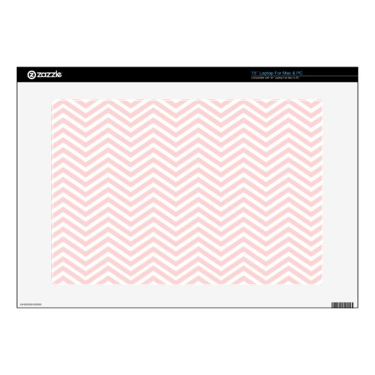 Salmon Pink Chevron Laptop Decals
