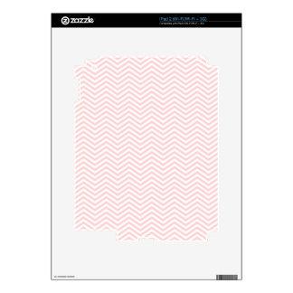 Salmon Pink Chevron Skin For iPad 2