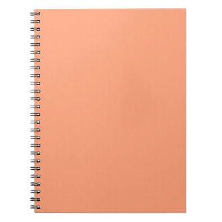 Salmon Pink color accent customizable Spiral Notebook