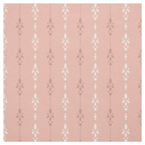 Salmon Pink crystal showers Fabric