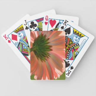 Salmon Pink Daisy Bicycle Playing Cards