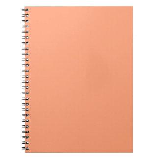 Salmon Pink Decor Background Customizable Spiral Notebook