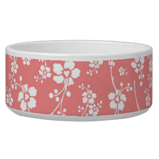 Salmon Pink Floral Bowl