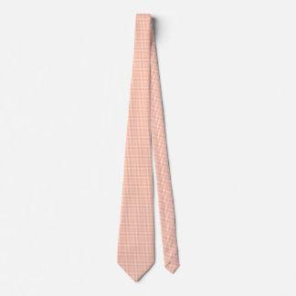 Salmon Pink Gingham Tie