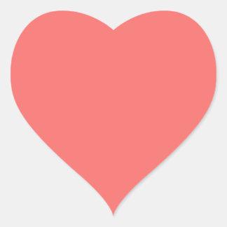 Salmon Pink Heart Sticker