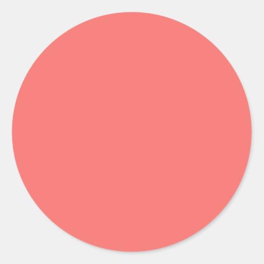 Salmon Pink Round Sticker