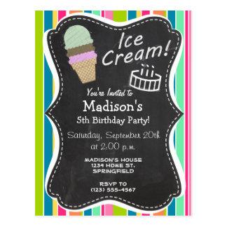 Salmon Pink & Seafoam Green; Ice Cream Cone Postcards