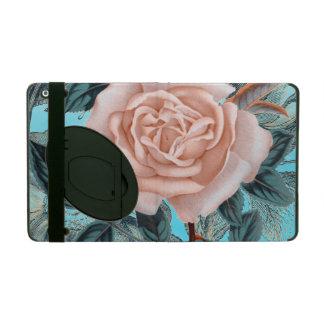 Salmon  Pink shabby rose iPad Case