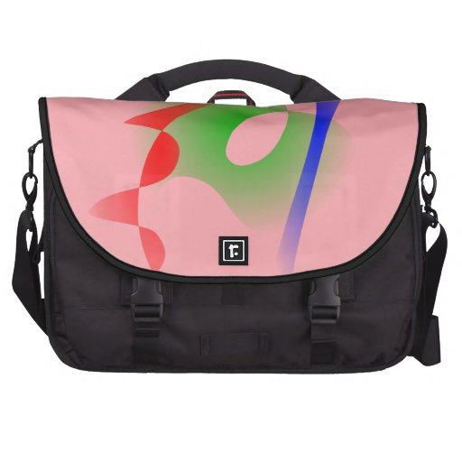 Salmon Pink Simple Abstract Art Commuter Bag