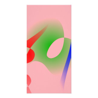 Salmon Pink Simple Abstract Art Photo Greeting Card