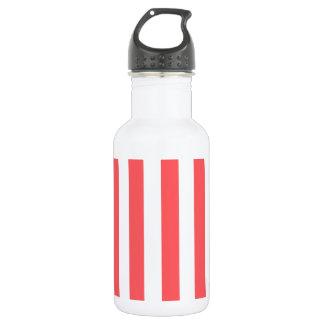 Salmon Pink Stripe Water Bottle