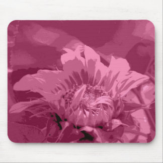 Salmon Pink Unfurled Sunflower Mousepads