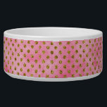 """Salmon Pink Watercolor with Gold GLitter Polka Dot Bowl<br><div class=""""desc"""">Salmon Pink Watercolor with Gold GLitter Polka Dot Geometric Design,  with fun trendy modern pattern! Check my shop to see this design on lots of products!</div>"""