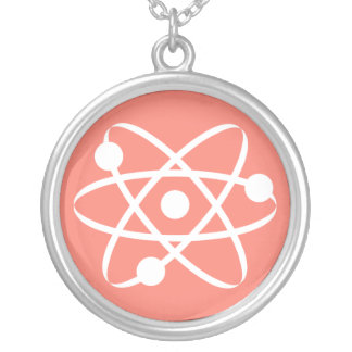 Salmon, Pinkish-Orange Atom Pendant