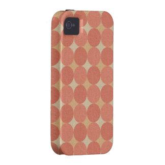 Salmon Poka Dots iPhone 4/4S Case