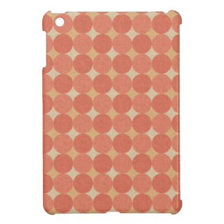 Salmon Poka Dots iPad Mini Cover