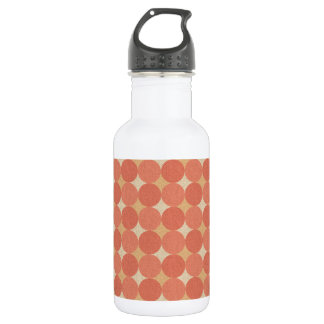 Salmon Poka Dots Stainless Steel Water Bottle
