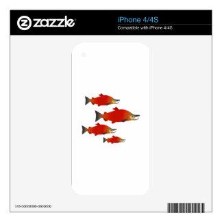 Salmon Rally iPhone 4S Decal