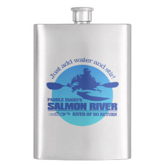 Salmon River (Blue) Hip Flask