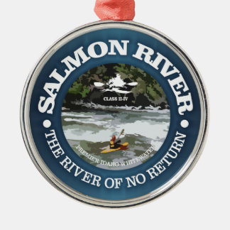 Salmon River (c) Metal Ornament
