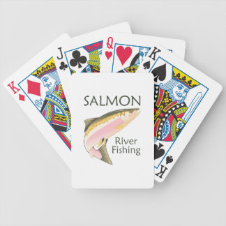 SALMON RIVER FISHING BICYCLE PLAYING CARDS