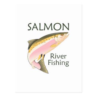 SALMON RIVER FISHING POSTCARD