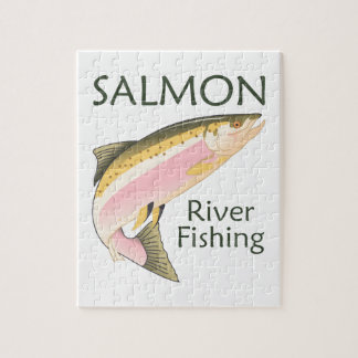 SALMON RIVER FISHING JIGSAW PUZZLES
