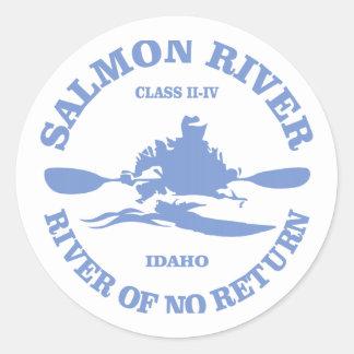 Salmon River (kayak) Classic Round Sticker