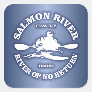 Salmon River (kayak) Square Sticker