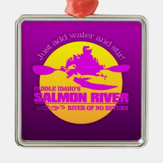 Salmon River (Sunset) Metal Ornament