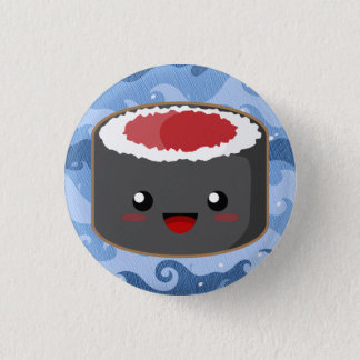 Salmon Roll Pinback Button