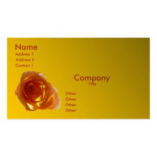 Salmon Rose Business Card
