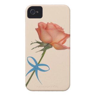 Salmon Rose  Customizable iPhone 4 Case